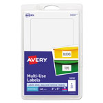 "Avery Self Adhesive White Removable Labels, Rectangular, 5""x3"", 40 per Pack"