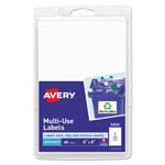 "Avery Self Adhesive White Removable Labels, Rectangular, 4""x6"", 40 per Pack"