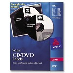 Avery CD Labels, Laser, 40/Pack, White
