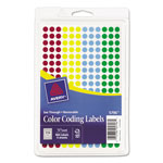 "Avery ""See Through"" Removable Color Dots, 1/4"" meter, Assorted Colors, 860 per Pack"