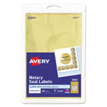 Avery Self Adhesive Gold Notarial and Certificate Seals, 44 per Pack