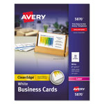 "Avery Business Cards for Laser Printer, 2000/Box, 3-1/2""x2"", White Matte"