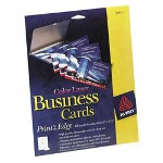 "Avery Business Cards for Color Laser Printer, 160/Pack, 2""x3 1/2"", White"