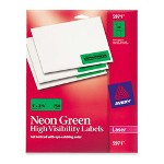 "Avery Neon Laser Labels, Rectangle, 1""x2 5/8"", 750/Pack, Fl. Green"