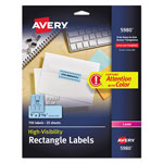 "Avery Neon Laser Labels, Rectangle, 1""x2 5/8"", 750/Pack, Blue"