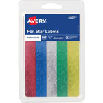 "Avery Self Adhesive 1/2"" Assorted Color Foil Stars, 440 per Pack"