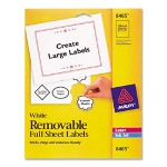 "Avery ID Laser Label, Full Sheet, 8 1/2"" x 11"" 25/Pack, White"