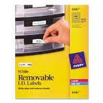 "Avery ID Laser Label, Rectangle, 1/2"" x 1 3/4"" 2000/Pack, WE"