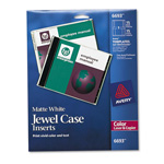 Avery CD/DVD Inserts, Color Laser, Matte White
