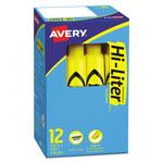 Avery Desk Style Highlighter, Yellow Ink