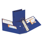 "Avery 43% Recycled Durable Slant D-Ring Reference Binder, 5"" Capacity, Blue"