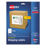 "Avery Ink Jet Labels, Full Sheet, 8 1/2""x11"", 25/BX, White"
