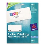 "Avery Color Ink Jet Labels, Matte White, Rectangle, 2""x4"", White"