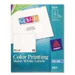 "Avery Color Ink Jet Labels, Matte White, Rectangle, 3 1/3""x4"""