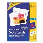 "Avery inkjet cards with envelopes, 5 1/2""x4 1/4"", matte, 60/bx., we"