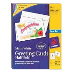 "Avery inkjet greeting cards with envelopes, 8 1/2""x5 1/2"", 30/bx., we"