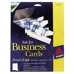 "Avery Glossy Business Cards for Inkjet Printer, 2""x3-1/2"", 200/Pack, white"