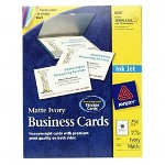"Avery Business Card, Matte, Inkjet, 2""x3 1/2"", 250/Pack, Ivory"