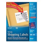 "Avery Ink Jet Labels, Mailing, 3 1/3""x4"", 600/BX, White"