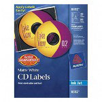 Avery CD Labels, Inkjet Matte, 40 per Pack, White