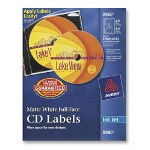 Avery Labels, CD, Inkjet Matte, 40/Labels, 80/Inserts, White