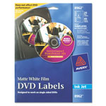 Avery DVD Labels, Clear Inkjet Matte, White