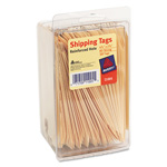 "Avery Manila Shipping Tags, 4 1/4""x2 3/8"", Strung, 100 Tags per Pack"