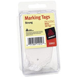 Avery Price Tags, White, Strung, Convenience Pack of 100, 2 3/4 x 1 11/16