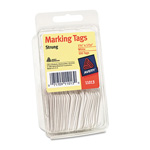 Avery Price Tags, White, Strung, Convenience Pack of 100, 1 3/4 x 1 3/32