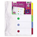 Avery 5-Tab Index Tabs, Assorted Colors