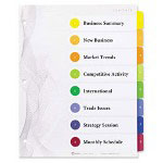 Avery 8-Tab Index Tabs, Assorted Colors