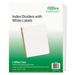 Avery Office Essentials White Label Dividers, 5-Tab, 11 x 8-1/2, White, 5 Sets/Pack