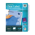 Avery index maker translucent clear label dividers 8 tab for Avery 8 tab clear label dividers template