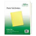 Avery 8-Tab Index Tabs, Clear