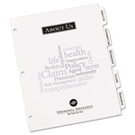 Avery 5 Tab Wide Format Print-On Dividers, 3 Hole Punched, White