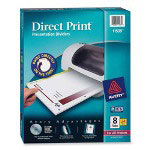 Avery Direct Print® Dividers, 8-Tab, 24 Sets, White
