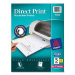 Avery Direct Print® Dividers, 5-Tab, 4 Sets, White