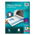 Avery Direct Print® Dividers, 8-Tab, 4 Sets, White