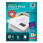 Avery High-Speed Direct Print® Dividers, 5-Tab, 24 Sets, White