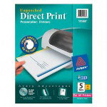 Avery Direct Print® Unpunched Dividers, 5-Tab, 4 Sets, White