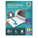 Avery Direct Print® Unpunched Dividers, 8-Tab, 4 Sets, White