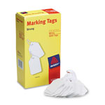 "Avery White Price Tags, Strung with White Twine, 2 3/4""x1 11/16"", 1000 per Pack"