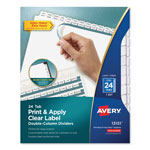 Avery Tab Dividers, 24/Tabs, White
