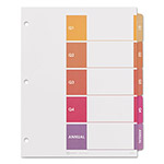 Avery Ready Index Table of Contents Divider, Quarterly/Annual, Multicolor, Letter