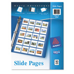 "Avery Photo Pages For Twenty 2""x2"" Slides, 3 Hole Punched"