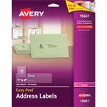 Avery Easy Peel Mailing Labels For Laser Printers, 1 x 4, Clear, 200/Pack