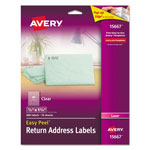 Avery Easy Peel Mailing Labels For Laser Printers, 1/2 x 1-3/4, Clear, 800/Pack