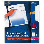 Avery Translucent Index Tabs, White