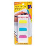 "Avery Self-Adhesive Write-On Index Tabs, 1 1/4"", Assorted Colors, 48 per Pack"