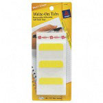 "Avery Self-Adhesive Write-On Index Tabs, 1 3/4"", Yellow, 48 per Pack"